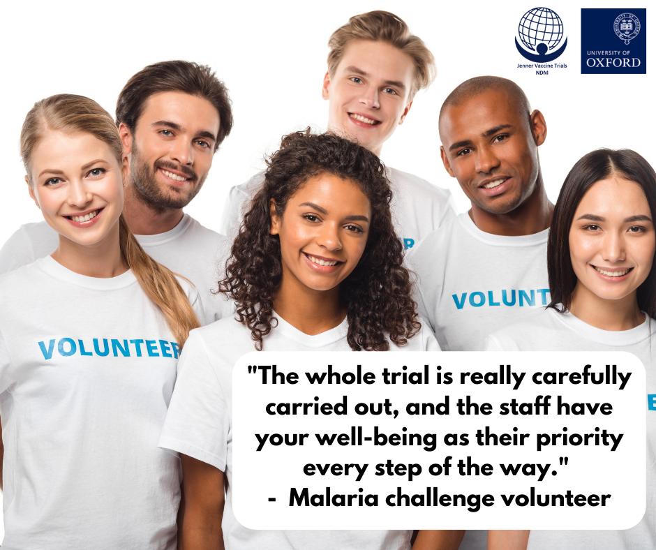 Malaria trial volunteer
